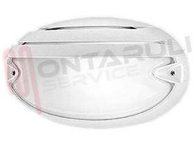 Immagine di PLAFONIERA 1X60W CHIP GRILL 25 E27 OVALE BIANCA
