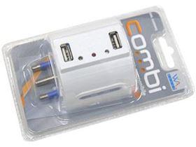 Picture of COMBI CARICABATTERIA USB + ADATTATORE 16A