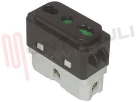 Picture of GL PRESA BIVALENTE 2P+T 10-16A MARRONE EX.2650-51