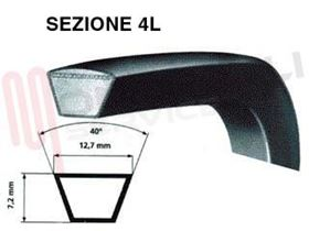 Picture of CINGHIA 12ML127/4L500 L=1265MM.