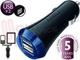 Immagine di CARICATORE DOPPIO CHARGER USB 5V/2.1A SPINA AUTO 12V