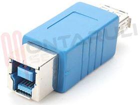 Immagine di ADATTATORE USB 3.0 TIPO A FEMMINA / TIPO B FEMMINA