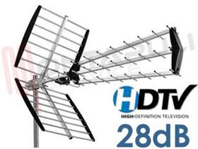 Immagine di ANTENNA TV UHF+DDT DIGITALE SHD45E 28DB STARK