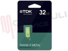 Immagine di PEN DRIVE TRANS-IT METAL GREEN 32GB USB 2.0