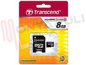 Immagine di SECURE DIGITAL CARD 8GB MICROSD CON ADATTATORE SD CLASS4