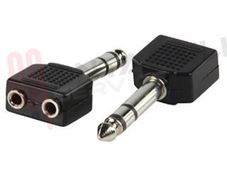Picture of ADATTATORE AUDIO 1 JACK MASC 6,3MM / 2 JACK FEMM 2,5MM STERE