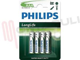 Picture of BATTERIA 1,5V LR03 4X LONGLIFE AAA PHILIPS