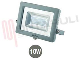 Immagine di PROIETTORE LED 10W 3000°K 220-240V IP65 SLIM CLEAR