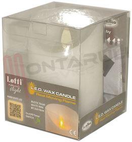 Picture of CANDELA LED A BATTERIA LUCE A FIAMMA BIANCA H.10CM.
