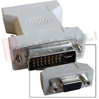 Picture of ADATTATORE SPINA DVI-I 24+5 POLI HDD A PRESA VGA 15 POLI