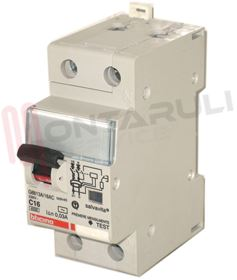 Picture of MAGNETOTERMICO DIFFERENZIALE AC 1P+N 16A 4,5KA 2MOD. BTDIN45