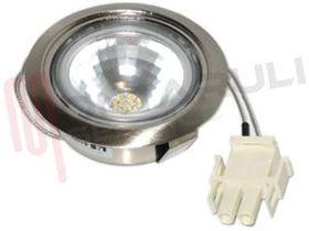 Immagine di FARETTO PER CAPPA F60 1,1W 12VDC A LED 4000K CON VETRINO